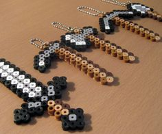 Minecraft Tool Keychains by SweetPerls on Etsy