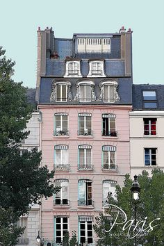Ideas for apartment building exterior design paris france Pink Paris, I Love Paris, Paris Paris, Paris City, Paris France, Belle France, Little Paris, Paris Apartments, Parisian Apartment