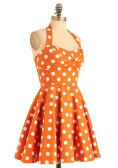Traveling Cupcake Truck Dress in Orange. So clemson. And not so much my style. but I'd wear it :D
