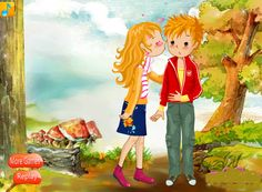 Kissing Young Couple - Kiss Games Online - Dressup24h Kissing Games, Young Couples, Games For Girls, Online Games, Kids, Fictional Characters, Art, Young Children, Art Background