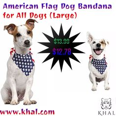 American Flag Dog Bandana - USA Dog Bandana - American Flag Bandana - Patriotic Flag - for All Dogs (Large)  https://www.khal.com/products/american-flag-dog-bandana-usa-dog-bandana-american-flag-bandana-patriotic-flag-for-all-dogs-large  Don't wait for Black Friday or Cyber Monday to get the best deals of the year! Browse our website for Flash Deals at Khal.com to SAVE MONEY EVERYDAY!  #khal #khal.com #scarf #Dog #gift #Summer offer #Deals #online shopping #shopping #flags #flag#day