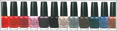 """OPI: The Holland Collection Swatches- I really love the colors: """"Pedal Faster Suzi!"""" & """"Vampsterdam"""""""
