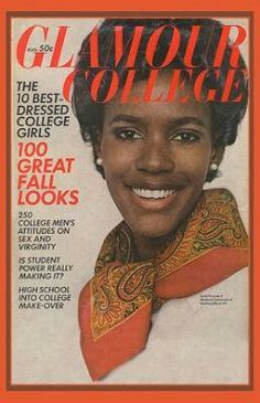 Glamour magazine broke with convention, by putting Katiti Kironde on their August 1968 College Issue