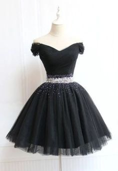 Beautiful Cute Charming Black Tulle V Neck Beaded Short Prom Dress, Bl – forma. - - Beautiful Cute Charming Black Tulle V Neck Beaded Short Prom Dress, Bl – formalgowns Source by lashaeridley Cute Dresses For Teens, Elegant Dresses For Women, Beautiful Dresses, Simple Dresses, Unique Dresses, Middle School Dance Dresses, 8th Grade Dance Dresses, 8th Grade Graduation Dresses, 8th Grade Formal Dresses