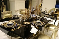 Glam Gold Tablescape Galore — Elegantly Untamed | One-Of-A-Kind Swarovski Crystal iPhone Cases