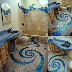 Beautiful Mosaic Bathroom Tile Design, its awesome