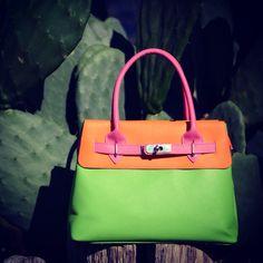 Iris Top Handle Leather Bag  Shop @ www.bidinis.com