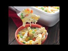 Cheesy Chicken Noodle Casserole + VIDEO & GIVEAWAY - Julie's Eats & Treats
