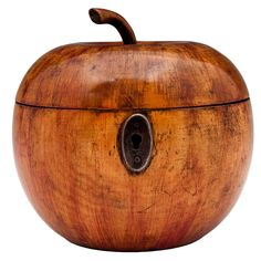 Apple Tea Caddy | From a unique collection of antique and modern tea canisters at https://www.1stdibs.com/furniture/more-furniture-collectibles/tea-canisters/
