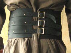 Luxe de ceinture de rein du cuir mercenaire par MorganasCollection