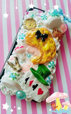 Cute Kawaii Decoden Phone Case iPhone Alice in the wonderland Phone case Decoden Phone Case, Kawaii Phone Case, Cute Phone Cases, Iphone Phone Cases, Iphone 6, Holiday Sales, Surprise Gifts, Selling On Ebay, Alice