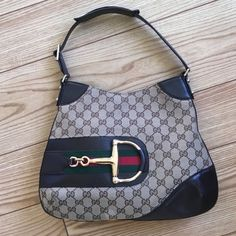 AUTHENTIC GUCCI MONOGRAM HASLER HOBO 100% authentic. Used a handful of times.  In excellent condition.  No rips or tears in the canvas. There is one small scratch on the bottom left ( shown in picture) minor scratches on the hardware from normal use.  Comes with a dust bag.  🚫TRADES🚫PAYPAL 😱please no offers in the comments.  Please ask for additional photos if needed. Matching wallet is listed. Gucci Bags Hobos