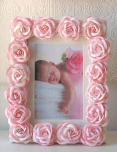 Pink Rose Picture Frame