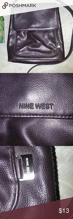 ⭐Nine West vegan leather Crossbody purse buy Nine West is very soft and pliable and feels like real leather.  7.6x8x2  with a 22' drop Nine West Bags Crossbody Bags
