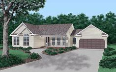 Ranch Traditional House Plan 45210