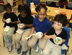 Who says kids won't eat their veggies?  These students from Jackson-Madison County Schools in Tennessee beg to differ!