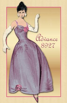 Pattern Advance 8927--1960s Cocktail and/or Evening Dress