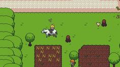 Apparently this cow doesn't want Freyja to get on with her adventure!  Find more info about 2D RPG Towards The Pantheon at http://www.towardsthepantheon.com !  #rpg #gamedev #pixelart #jrpg #roleplayinggame #indiegame #indiedev #indiegamedev #indiegamelov