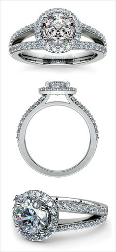 Halo engagement ring. Jewelery Design: Brilliance #wchappyhour http://www.weddingchicks.com/2014/06/18/wedding-chicks-happy-hour-18/
