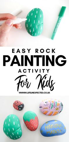 Easy Rock Painting Activity For Kids  How To Paint Rocks | Rock Painting | Painting Rocks With Acrylics | How To Paint Rocks