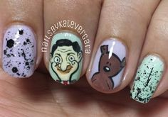 Mr. Bean Nails. I should totally have manicures of British TV show characters.