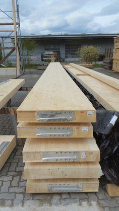 Holzhallenbau - Hier montierte Sherpa Holzverbinder www.zimmerei-massivholzbau.de