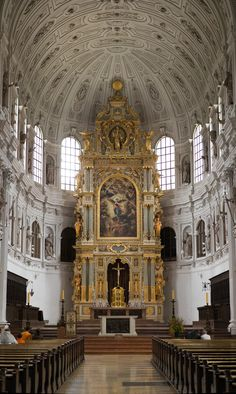 The High Altar at St. Michael's Church - Munich, Germany (a Jesuit church)  #catholicbeauty