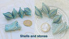 Translucent polymer clay silver and gold leaf beads | Flickr - Photo Sharing!