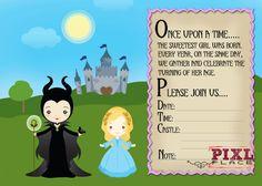 maleficent invitations - Google Search