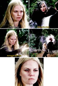 to me, over time Emma starts to look worst and worst, like the darkness is taking her over throughout the episode