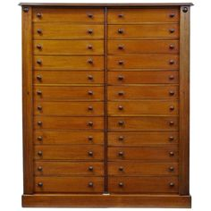 19th Century Mahogany 24 Drawer Collectors Cabinet | From a unique collection of antique and modern commodes and chests of drawers at http://www.1stdibs.com/furniture/storage-case-pieces/commodes-chests-of-drawers/