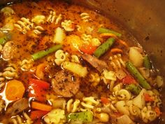 Quicker Minestrone and Other Favorite Fall Recipes Crock Pot Soup, Crock Pot Cooking, Italian Crockpot Recipes, Crockpot Meals, Fall Recipes, Soup Recipes, Crockpot Minestrone, Kidney Bean Soup, Beans And Sausage