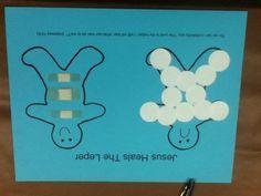 Jesus Heals 10 Lepers Preschool Craft - Love It!!! … | preschool ...