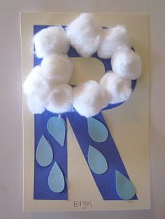 R is for Raincloud...from our playgroup today