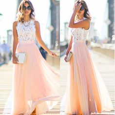 Women Formal Wedding Bridesmaid Long Evening Party Ball Prom Gown Cocktail Dress #Unbranded