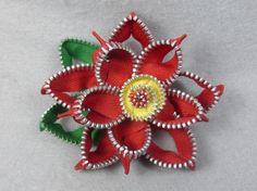 Poinsettia Barrette Poinsettia Clip Christmas by Pocketfullposies