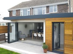 50 Cool and Modern Contemporary Home Decor Ideas 19 - Home & Decor House Extension Plans, House Extension Design, Roof Extension, House Design, Extension Ideas, Bungalow Extensions, Garden Room Extensions, House Extensions, Kitchen Extensions