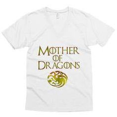 Mother of Dragons Unisex v-neck