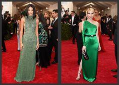 Inspiração Madrinhas e Padrinhos de Casamento | Met Gala 2015 - Kendall Jenner de Calvin Klein e Emma Roberts de Ralph Lauren