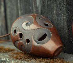 Ocarina | Ceramic flute | Musical instrument | Wind instrument | Ethnic instrument | Carved ocarina | Handmade ocarina | Unique ocarina by ArtPotteryBaiTerek on Etsy