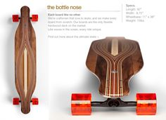 $379 The Bottlenose | Loyal Dean Longboards. I absolutely love the lines and the grain visible on these decks.