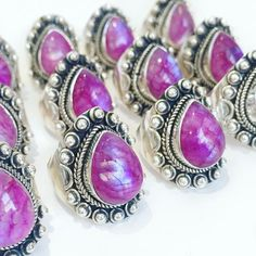 Bohemian Dream - Pink Rainbow Moonstone & Sterling Use code VIPHANNAHB for 15% off ** Silver Ring