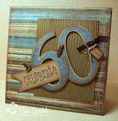 use Cricut machine to create custom 60th birthday card, or any age...