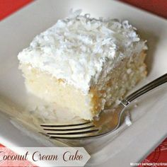 You searched for - melissassouthernstylekitchen.com Coconut Desserts, Coconut Recipes, Just Desserts, Delicious Desserts, Coconut Cakes, Apple Desserts, Healthy Recipes, Poke Cakes, Cupcake Cakes
