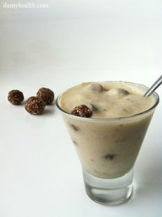 Vegan Snickerdoodle Blizzard (This recipe is vegan, no-bake, raw, dairy free, gluten free, personal sized serving, easy and delicious!) http://www.damyhealth.com/2012/02/vegan-snickerdoodle-blizzard/
