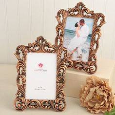 Copper Picture Frames Set of 15 - Size 4 x 6 - Baroque Table Number Frame - Wedding Favors Party Favor Victorian Bridal Shower Wedding Table Number Holders, Wedding Table Numbers, Wedding Reception Decorations, Wedding Ideas, Wedding Planning, Fall Wedding, Reception Ideas, Wedding Centerpieces, Wedding Country