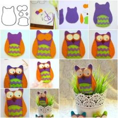 How to make Pretty Felt Owl step by step DIY tutorial instructions, How to, how to make, step by step, picture tutorials, diy instructions, by Mary Smith fSesz