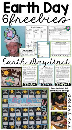 6 Earth Day Freebies and the most amazing art! From Teacher to the Core. Earth Day Activities, Spring Activities, Holiday Activities, Science Activities, Science Ideas, First Grade, Second Grade, Earth Day Crafts, Freebies