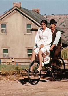 Katharine Ross and Paul Newman in Butch Cassidy and the Sundance Kid.