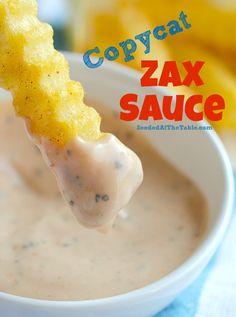 Copycat Zax Sauce (Dipping Sauce for Chicken & Fries) Copycat recipe of Zaxby's Zax Sauce. A seasoned creamy dipping sauce for chicken fingers and french fries. Dipping Sauces For Chicken, Sauce For Chicken, Fried Chicken, Sauce For Fries, Garlic Dipping Sauces, Chicken Sauce Recipes, Zax Sauce, Marinade Sauce, Dip Recipes